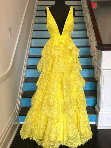 products/Yellow_Lace_Tiered_Vintage_V-neck_A-line_Prom_Dresses_PD00377-1.jpg