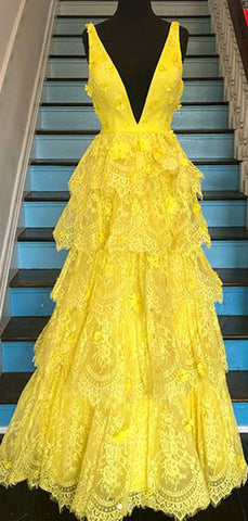 products/Yellow_Lace_Tiered_Vintage_V-neck_A-line_Prom_Dresses_PD00377-2.jpg
