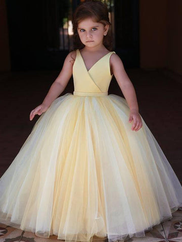 products/Yellow_Satin_V-neck_Tulle_Ball_Gown_Simple_Flower_Girl_Dresses_FGS117-1.jpg