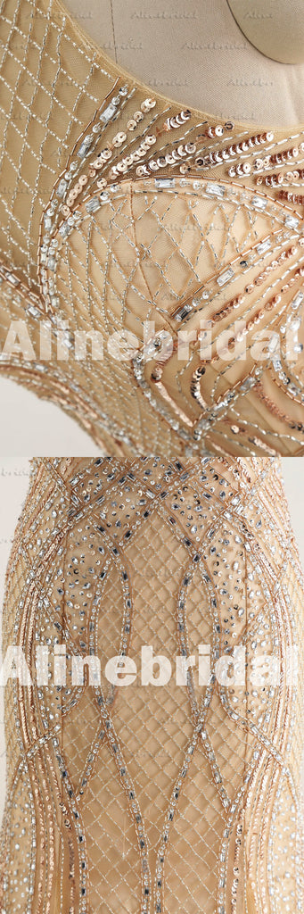 Patterned Beading Sequins Halter Illusion Back Mermaid Sweetheart Neck Long Prom Gown Dresses,PD00037