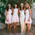 Lovely Pink Lace Jewel Neck  Sleeveless Spaghetti Strap A-line Short Bridesmaid Dresses. AB1192