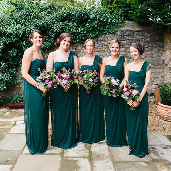 Teal Chiffon One Shoulder Pleating Straight Across Cheap Long