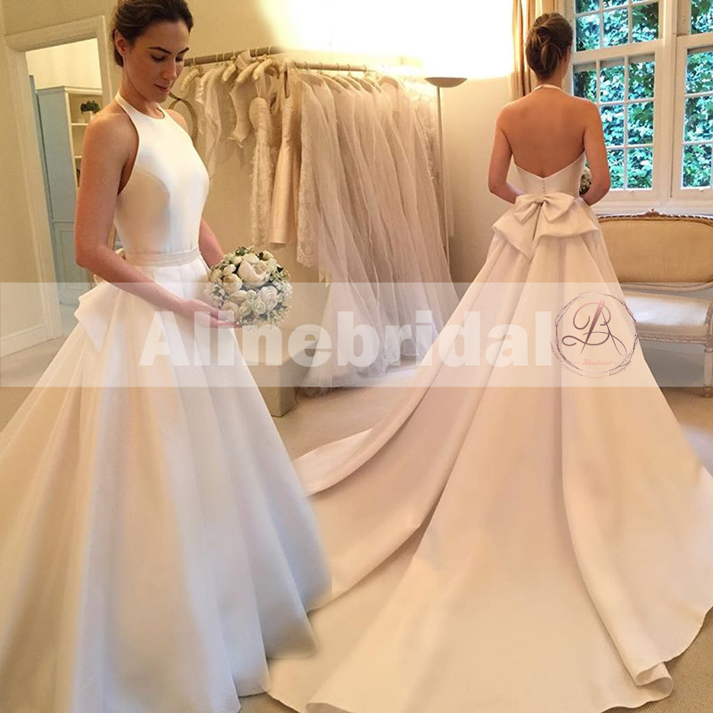 Simple And Elegant White Satin Sweetheart With Jacket: Elegant Long A-line Train Sash Sweetheart Off Shoulder