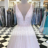 Light Pink Stunning Sequin Beading For Teens Prom Dresses, PD00091