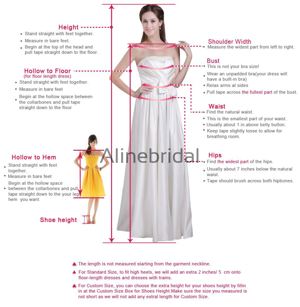 Dusty Rose Spaghetti Strap Lace Tea Length Bridesmaid Dresses, AB4024