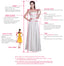 Elegant Long Sleeve Lace Straight Open Back Bridal Gown Wedding Party Dresses,  WD0065