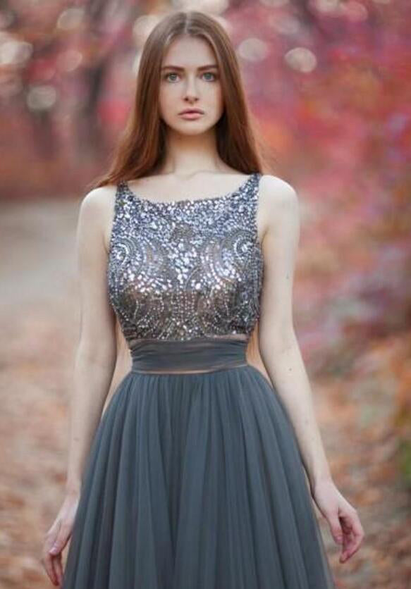 Long Popular V-Back Sequined Ball Gown Casual Pretty Evening Party Prom Dresses Online,PD0140