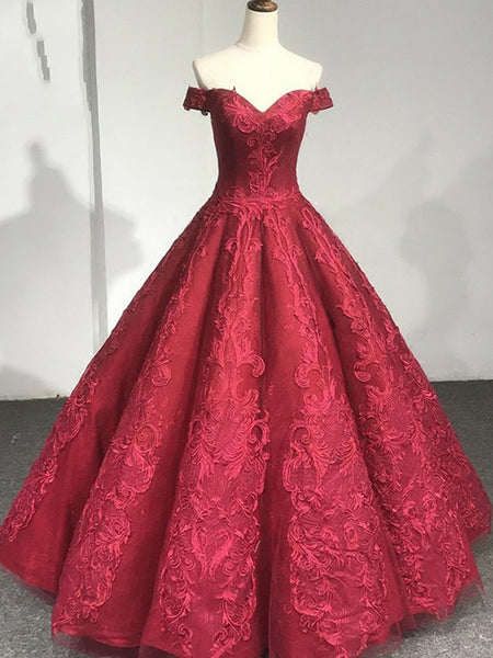 81bab9de3e FEATURED PRODUCTS. Your product s name.  200.00. Red Lace Off The Shoulder  Princess Ball Gown Gorgeous Prom Dresses ...