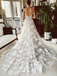 Charming Spaghetti Strap Sweetheart A-line Lace Long Wedding Dress, WD3014