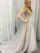 Stunning Gorgeous Shinning Long Sleeve Open Back V-neck Prom Gown Dresses,PD00040