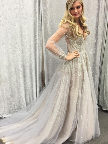 products/sparkling-beading-champagne-tulle-sheer-long-sleeve-plunging-V-neckline-prom-dress-1.jpg