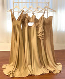 Mismatched Charming Popular Simple Cheap Long Wedding Bridesmaid Dresses, WG483