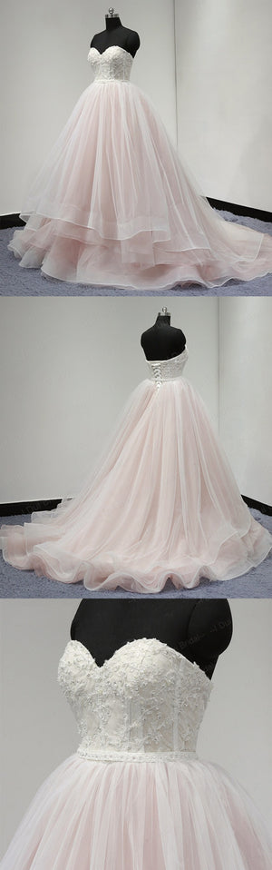 Sweetheart Lace Up Back Charming Affordable Long Prom Dresses Ball Gown, WG1001