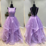 Elegant Open Back Popular Cheap Long Evening Prom Dresses, WG1013 - Wish Gown