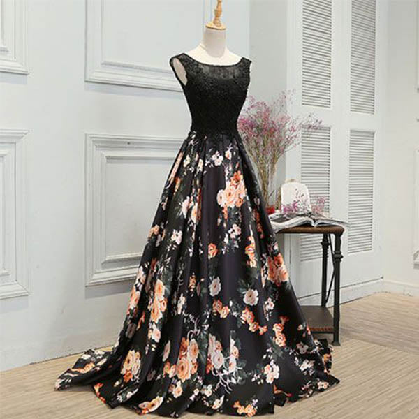 Elegant Affordable Black Charming Unique Evening Long Prom Dresses, WG1026 - Wish Gown