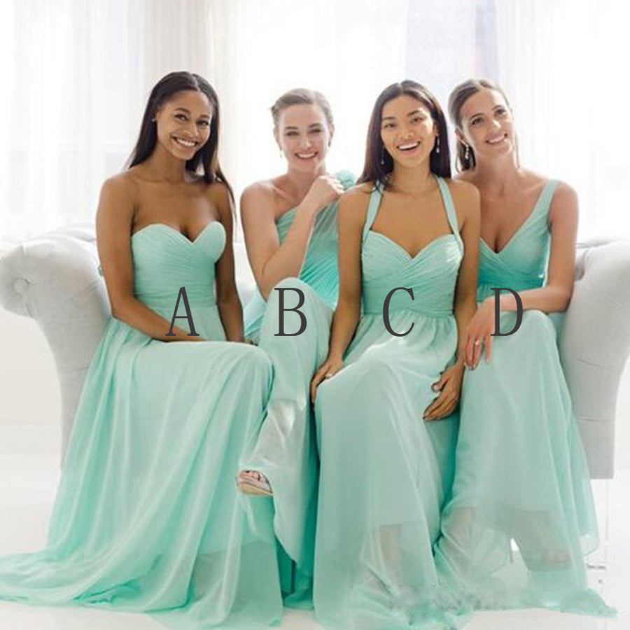 Bridesmaid dresses tagged long bridesmaid dresses page 4 wish gown mismatched mint chiffon different styles junior simple a line formal floor length bridesmaid dresses ombrellifo Images
