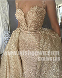 Affordable Spaghetti Strap Sparkle Sexy Popular Long Evening Prom Dresses, WG1118 - Wish Gown