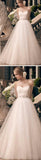 Charming Sweetheart Long A-line Rhinestone Princess Wedding Party Dresses, WD0116