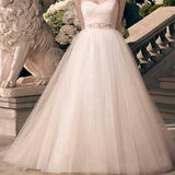 Charming Sweetheart Long A-line Rhinestone Princess Wedding Party Dresses, WD0116 - Wish Gown