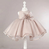 Dusty Pink Satin Tulle Zip Up Flower Girl Dresses, Lovely Little Girl Dresses with Flower Bow, FG030 - Wish Gown