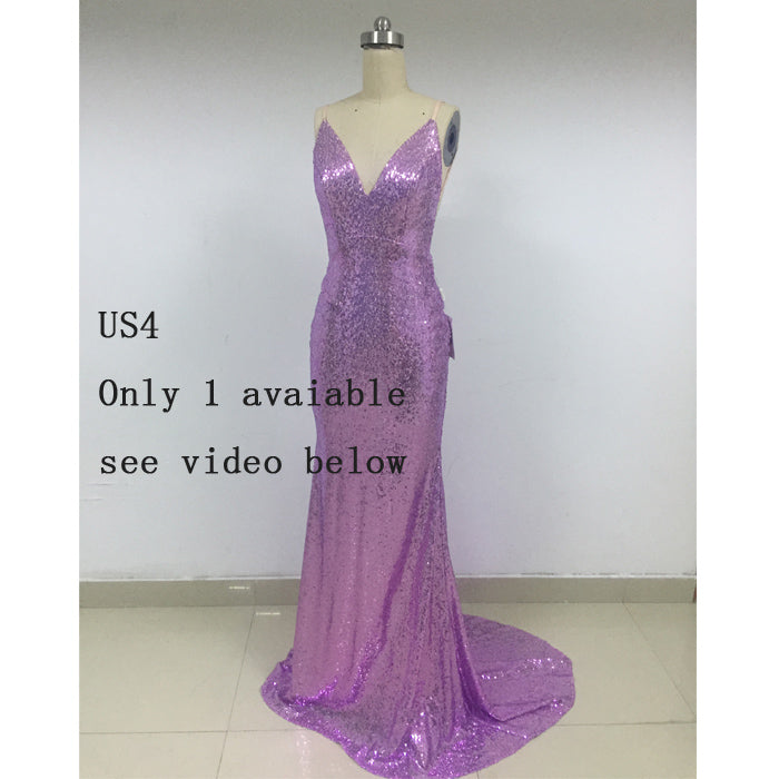 On Sale Sparkly Sequin Bridesmaid Prom Dress, RTG002