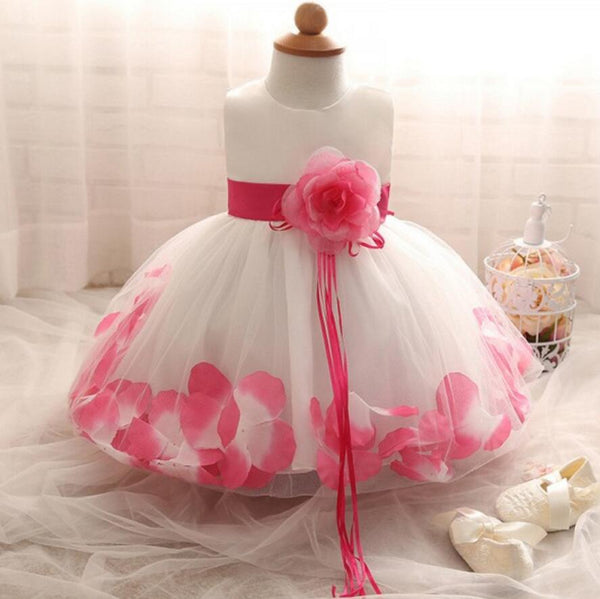 Beautiful Handmade Lovely Flower Girl Dresses, Weding Cheap Little Girl Dresses with Flowers, FGS021 - Wish Gown