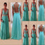 Popular Charming Lace See Through Back A Line Discount Long Party Prom Dresses, WG228