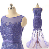 Unique Pretty Lace Tulle Sexy Fashion New Arrival Affordable Long Prom Dresses, WG231