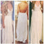 Simple Cheap Open Back Formal V Neck Junior Floor Length A Line Prom Dresses, WG248