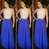 Royal Blue Elegant Inexpensive Long Evening Prom Dress, WG290