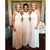Elegant Chiffon Cheap Floor Length Bridesmaids Wedding Party Dresses, WD0096 - Wish Gown