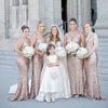 Popular V Neck Sequin Mermaid Sexy Elegant Cheap Long Bridesmaid Dresses, WG301