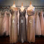 Charming Popular Sequin Mismatched Long Wedding Bridesmaid Dresses, WG327