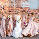 Convertible Long Jersey High Quality Cheap Wedding Bridesmaid Dresses, WG337 - Wish Gown