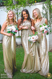 One Shoulder Sequin Popular Cheap Long Wedding Bridesmaid Dresses, WG395