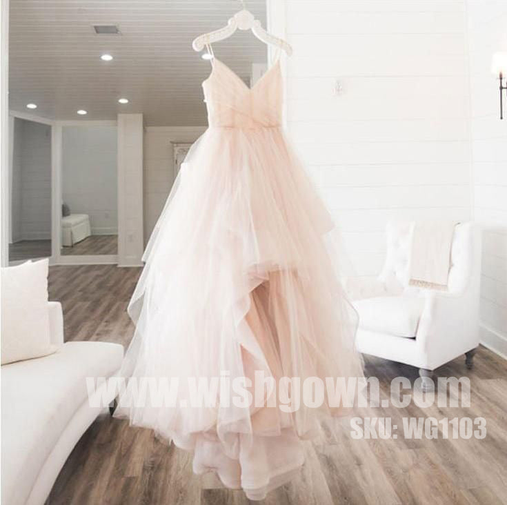 Elegant Popular SimpleTulle Evening Chic Cheap Long Prom Dresses, WG1103