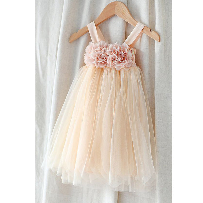 Cute Pretty Unique Cheap Weding Little Girl Flower Girl Dresses, FGD003