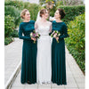 Long Sleeves Elegant Formal Unique Cheap Long Bridesmaid Dresses, WG405