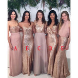 Most Popular Sequin Mismatched Long Wedding Bridesmaid Dresses, WG412