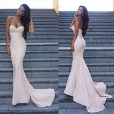 Cheap Simple Sweet Heart Mermaid Sexy Long Bridesmaid Dress, WG419 - Wish Gown