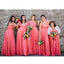 Convertible Watermelon Long Charming Wedding Party Bridesmaid Dresses, WG438