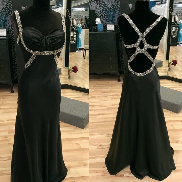 Sweetheart Open Back Cheap Long Evening Prom Dresses, WG588