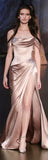 Elegant Simple Off Shoulder Side Slit Sexy Long Prom Dresses, WG589 - Wish Gown