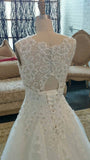 Charming Romantic Lace Beaded Lauxury Affordable Long Wedding Dresses, WG622 - Wish Gown
