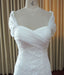 Elegant Cap Sleeve Sweet Heart White Affordable Lace Long Bridal Dresses, WG631 - Wish Gown