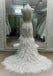 Affordable High Neck Sleeves Mermaid Open Back Lace Charming Long Wedding Dress, WG632 - Wish Gown