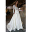 Affordable Long Sleeves Ivory Lace V Neck Elegant Cheap Long Wedding Dresses, WG668 - Wish Gown