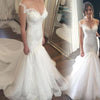 Charming Mermaid Tulle Lace Long Affordable Bridal Wedding Dress, WG669