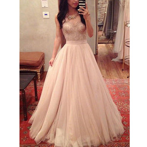 Charming Sweetheart Tulle Lace Evening Inexpensive Long Prom Dresses, WG771