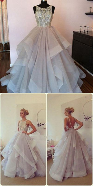 Popular Charming Elegant Open Back Affordable Long Prom Evening Dresses, WG778